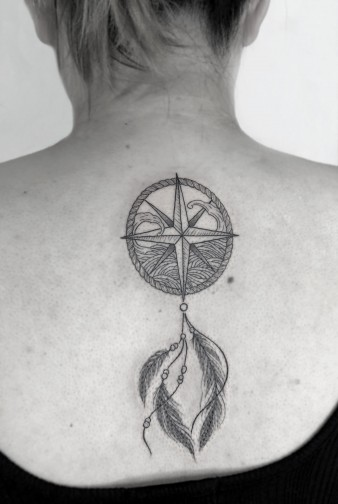 2019 May 11th Joyce Compass Wave Tattoo