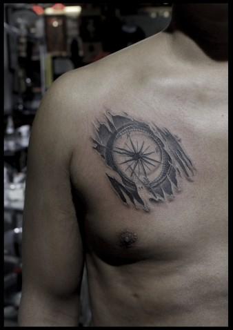 Compass tattoo-2