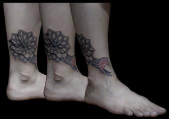 Mandala & Cat Tattoo